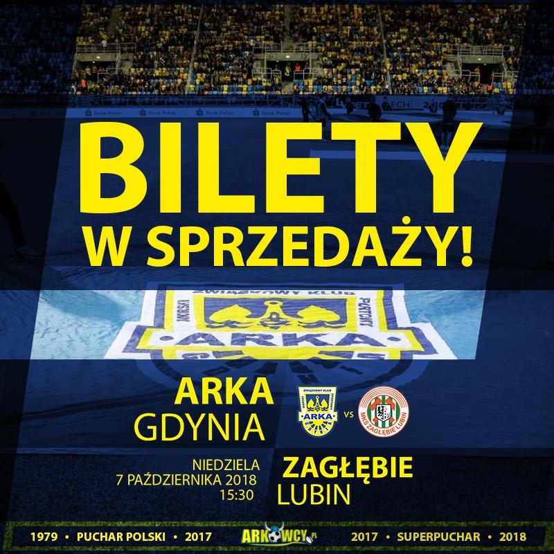 07.10 | ARKA & ZAGŁĘBIE LUBIN | bilety w sprzedaży